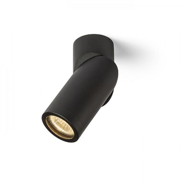 RENDL felületre szerelhető lámpatest SNAZZY fekete 230V GU10 35W R13552 1