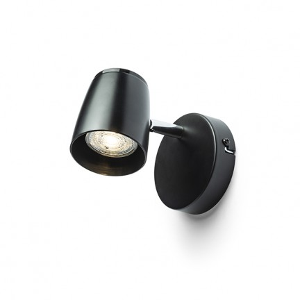 RENDL spotlight JOLI I wall black 230V LED GU10 10W R13556 1