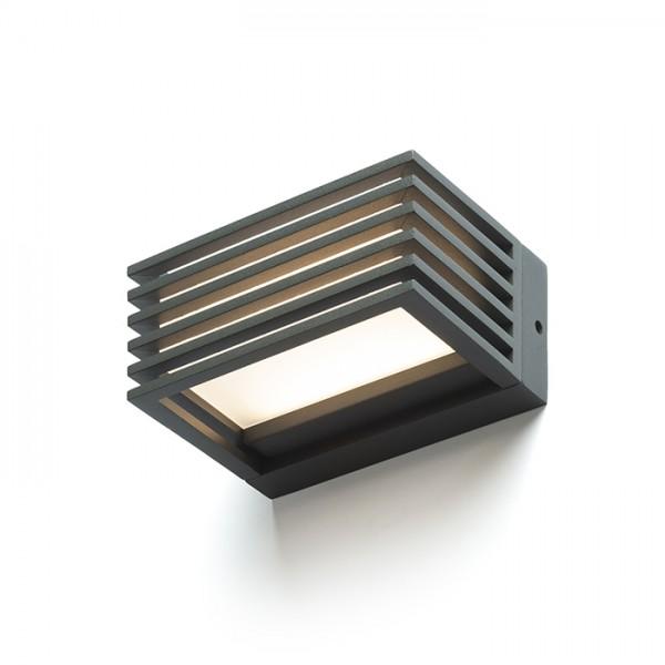 RENDL venkovní světlo CLAIRE 14 nástěnná antracitová mléčný akryl 230V LED 6W IP54 3000K R13564 1
