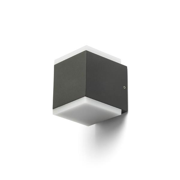 RENDL luminaria de exterior TIRAS II pared gris antracita acrílico esmerilado 230V LED 2x6W IP54 3000K R13569 1