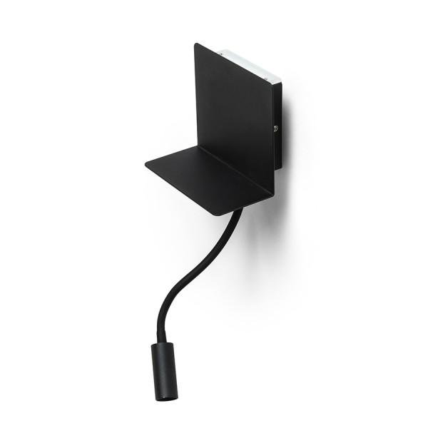 RENDL spot luminos ROSTAM de perete cu USB negru 230V LED 2x3W 3000K R13571 1