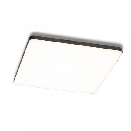 RENDL luz empotrada BJORK SQ 20 empotrado negro 230V LED 18W 3000K R13591 1
