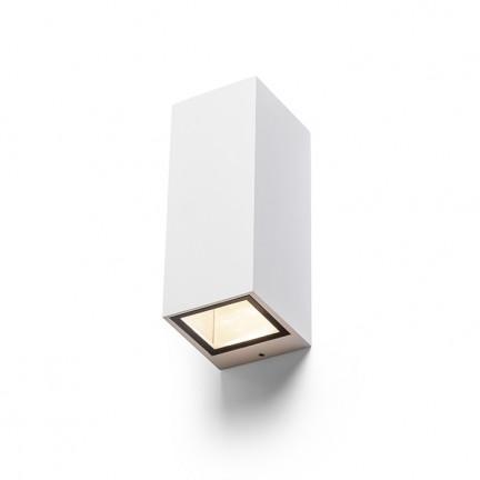 RENDL luminaria de exterior DESMOND II muro blanco 230V GU10 2x35W IP44 R13609 1