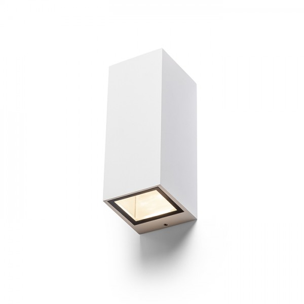 RENDL buiten lamp DESMOND II wandlamp wit 230V GU10 2x35W IP44 R13609 1