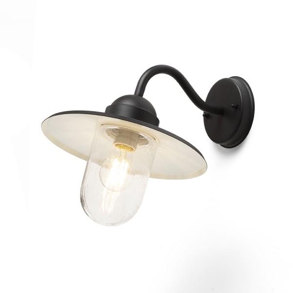 RENDL външна лампа BEACON nástěnná černá strukturované sklo 230V E27 60W IP44 R13614 1