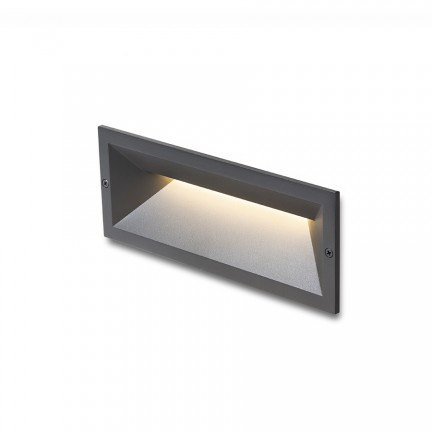 RENDL outdoor lamp RAGG recessed black 230V LED 12W IP65 3000K R13621 1
