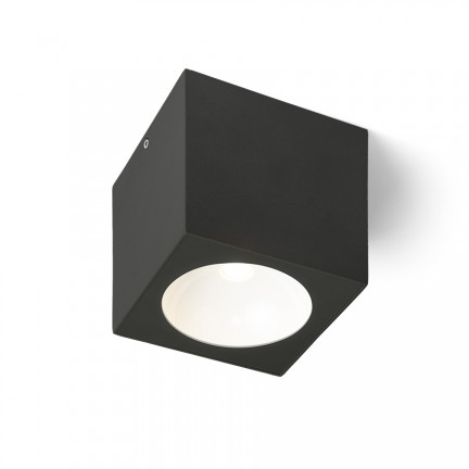RENDL outdoor lamp SENZA SQ ceiling anthracite grey clear glass 230V LED 6W IP65 3000K R13625 1