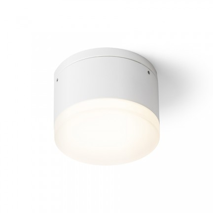 RENDL outdoor lamp ORIN R ceiling white satinated acrylic 230V LED 10W IP54 3000K R13626 1