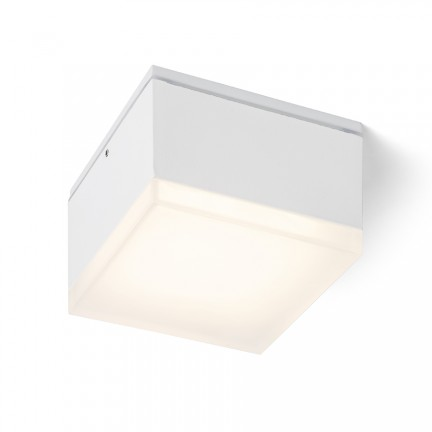 RENDL outdoor lamp ORIN SQ ceiling white satinated acrylic 230V LED 10W IP54 3000K R13628 1