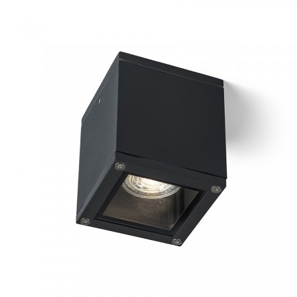 RENDL buiten lamp KEIG plafondlamp zwart 230V GU10 35W IP65 R13632 1