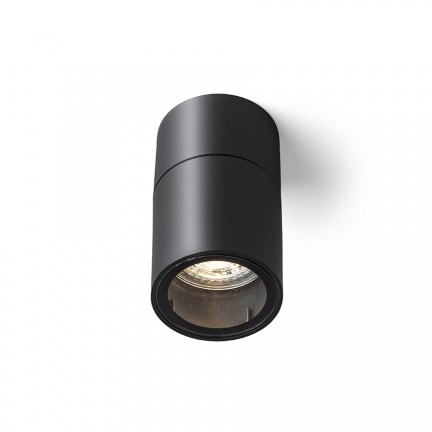 RENDL luminaria de exterior SORANO techo negro plástico 230V LED GU10 8W IP44 R13633 1