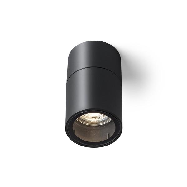 RENDL Aussenleuchte SORANO Deckenleuchte schwarz Kunststoff 230V LED GU10 8W IP44 R13633 1