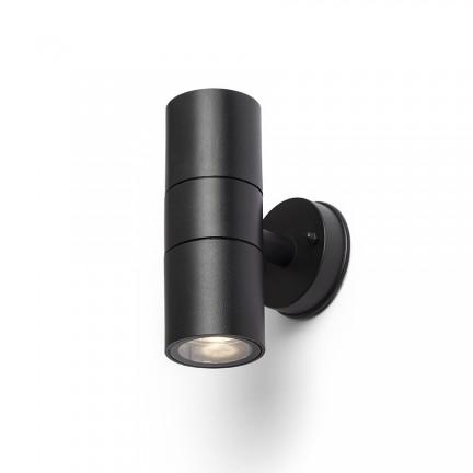 RENDL Aussenleuchte SORANO II Wandleuchte schwarz Kunststoff 230V LED GU10 2x8W IP44 R13634 1