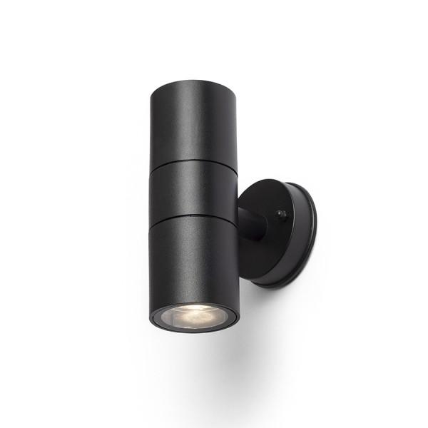 SORANO II nástenná čierna plast 230V LED GU10 2x8W IP44