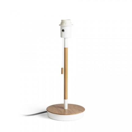 RENDL Sjenila i dodaci KEITH stolna baza s USB-om bijela bukva 230V E27 40W R13639 1