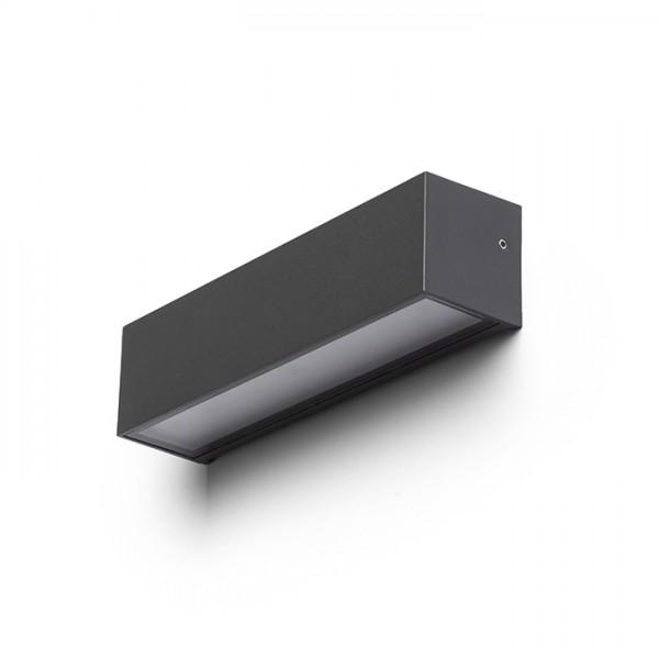 CAMARGUE nástenná antracitová satinované sklo 230V LED 6W IP65 3000K