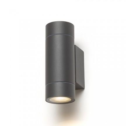 RENDL luminaria de exterior MIZZI NEW II muro gris antracita 230V GU10 2x35W IP65 R13643 1