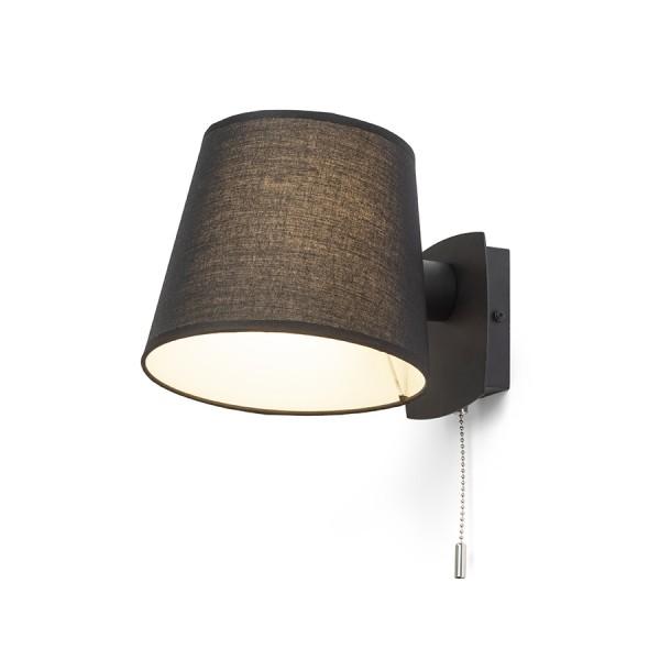 RENDL nástěnná lampa SELENA nástěnná černá 230V E27 15W R13651 1