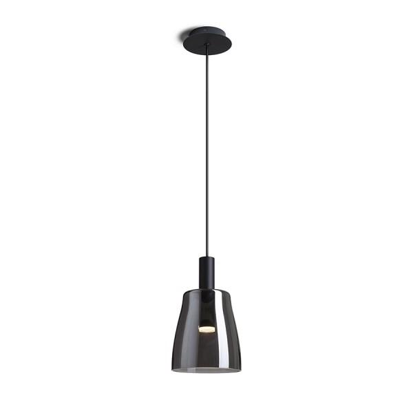 RENDL Viseća rasvjeta BELLINI M LED viseća crna dimljeno staklo 230V LED 5W 30° 3000K R13652 1