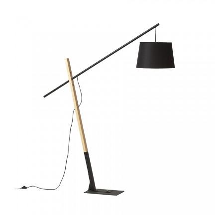 RENDL floor lamp DANTE floor black wood 230V E27 25W R13653 1