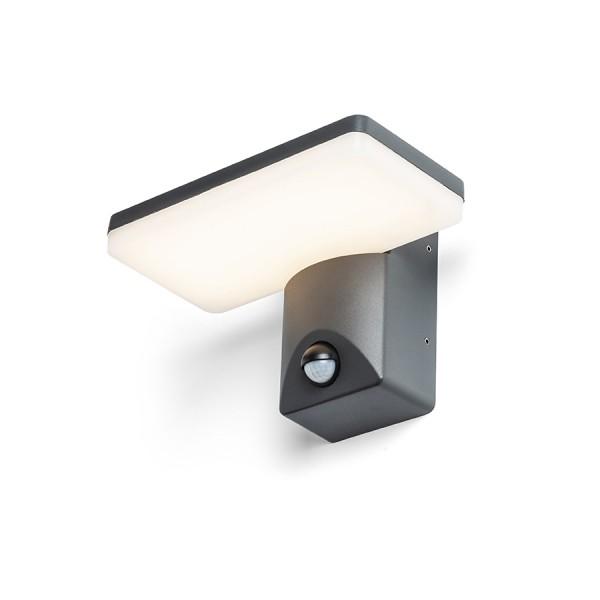 RENDL buiten lamp RINA PIR wandlamp antracietgrijs 230V LED 12W IP65 3000K R13654 1