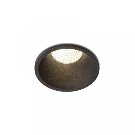 RENDL vestavné světlo OWEN DIMM zápustná černá 230V LED 7W 45° IP54 3000K - 1800K R13668 1