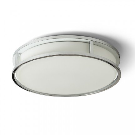 RENDL surface mounted lamp GRANDE LED 35 ceiling opal-colored glass/chrome 230V LED 24W IP44 3000K R13678 1