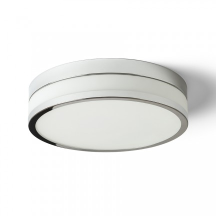 RENDL surface mounted lamp CIRA LED 35 ceiling opal-colored glass/chrome 230V LED 24W IP44 3000K R13681 1