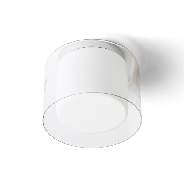 VENICE 23 stropná číre sklo/opálové sklo/chróm 230V E27 20W IP44