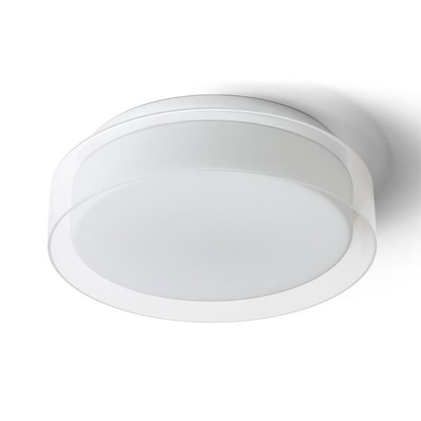 VENICE LED 30 stropná číre sklo/opálové sklo/chróm 230V LED 12W IP44 3000K