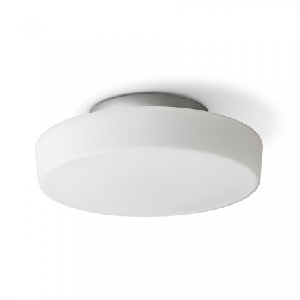 RENDL surface mounted lamp ZARA LED 26 ceiling opal-colored glass/chrome 230V LED 12W IP44 3000K R13686 1