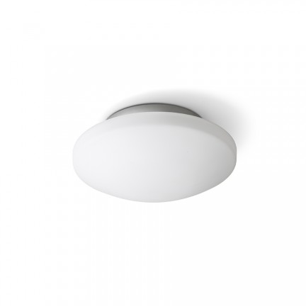 RENDL surface mounted lamp SARA LED 26 ceiling opal-colored glass/chrome 230V LED 12W IP44 3000K R13687 1