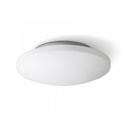 RENDL surface mounted lamp SARA LED 36 ceiling opal-colored glass/chrome 230V LED 24W IP44 3000K R13688 1