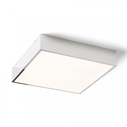 RENDL surface mounted lamp MERANO LED 30 ceiling chrome/matte acrylic 230V LED 16W IP44 3000K R13697 1