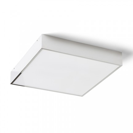 RENDL surface mounted lamp MERANO LED 35 ceiling chrome/matte acrylic 230V LED 24W IP44 3000K R13698 1